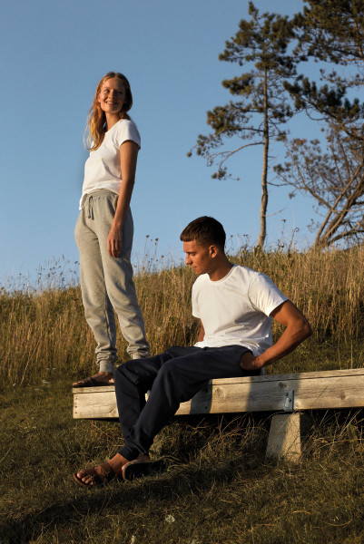 Unisex Sweatpants with Cuff and Zip Pocket