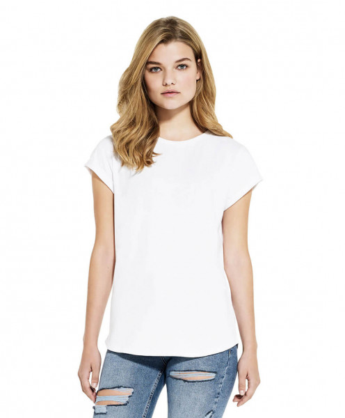 Womens Recycled Rolled Sleeve T-Shirt