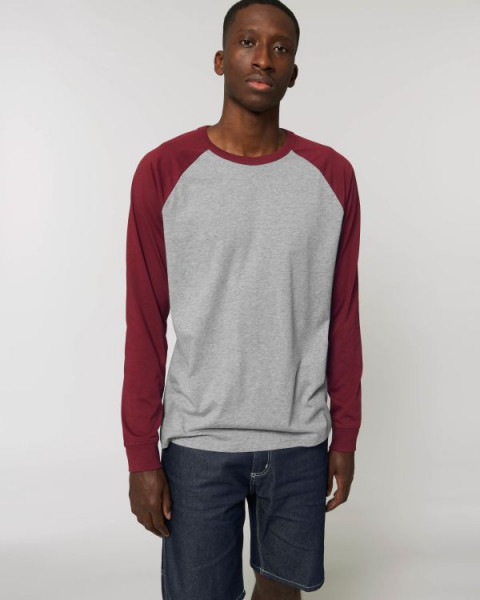 Heather Grey/Burgundy